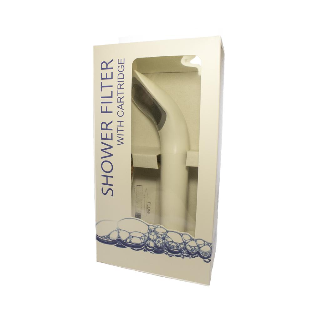 Фильтр для душа с ручкой Aquafilter FHSH-8-CW Белый