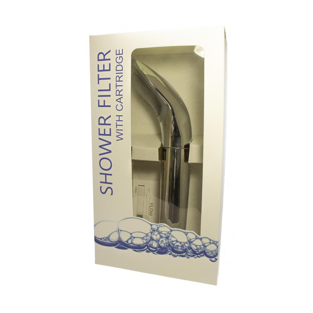 Фильтр для душа с ручкой Aquafilter FHSH-8-CCH Хромированный