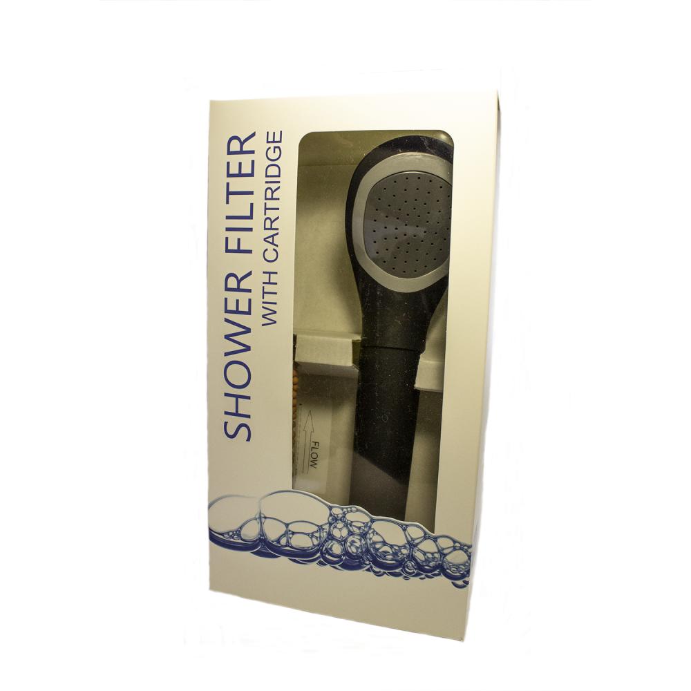 Фильтр для душа с ручкой Aquafilter FHSH-8-CB Черный