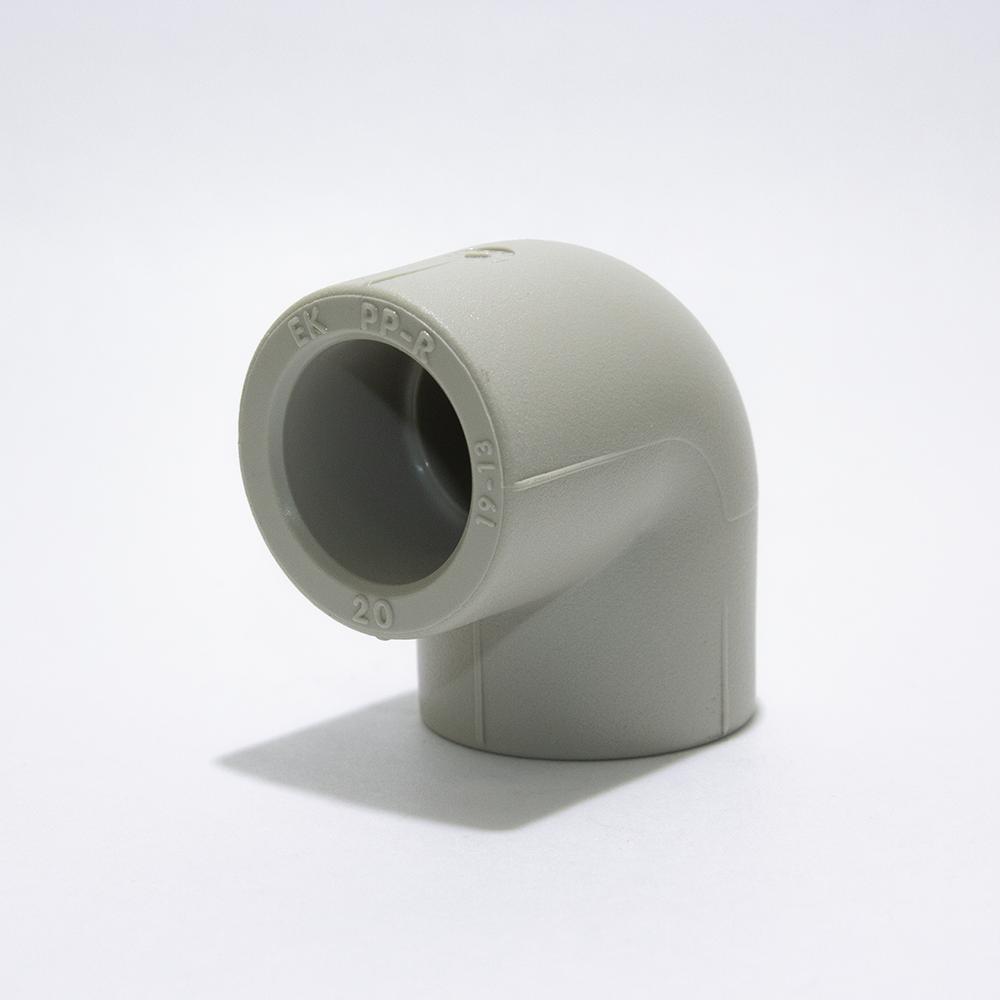 Колено 20 90* Серое PPR Wavin Ecoplastic